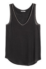 Vest top with sparkly stones - Black - Ladies | H&M CN 1