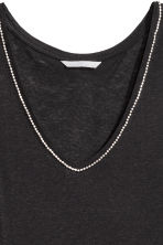 Vest top with sparkly stones - Black - Ladies | H&M CN 2