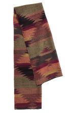 Jacquard-weave scarf - Burgundy/Patterned - Men | H&M CN 2