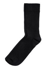 5-pack rib-knit socks - Black - Men | H&M CN 2
