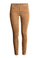 Corduroy trousers - Dark brown - Ladies | H&M CN 2