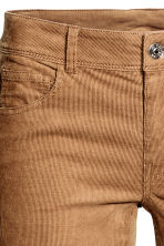 Corduroy trousers - Dark brown - Ladies | H&M CN 4