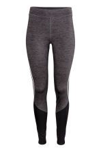 Winter running tights - Dark grey marl - Ladies | H&M CA 2