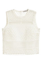 Lace top - White - Ladies | H&M CN 2