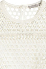 Lace top - White -  | H&M CN 3