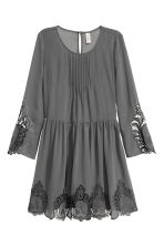 Chiffon dress with lace - 深灰色 - Ladies | H&M CN 2