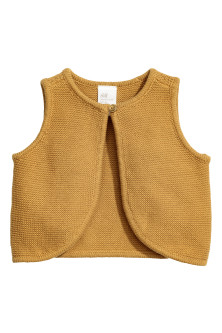 Knitted cotton waistcoat