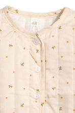 Quilted cotton jacket - Light beige -  | H&M CN 2