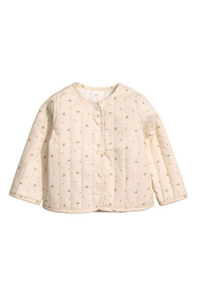 Quilted cotton jacket - Light beige -  | H&M CN