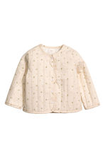 Quilted cotton jacket - Light beige -  | H&M CN 1
