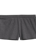 Pyjamas with top and shorts - Dark grey - Ladies | H&M CN 4
