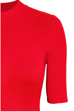 Ribbed dress - Red - Ladies | H&M CN 3