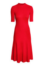 Ribbed dress - Red - Ladies | H&M CN 2