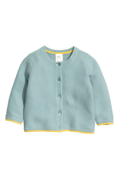 Cotton cardigan - Light petrol -  | H&M CN 1