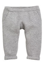 Fine-knit trousers - Grey marl -  | H&M CN 1