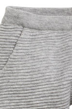 Fine-knit trousers - Grey marl -  | H&M CN 2