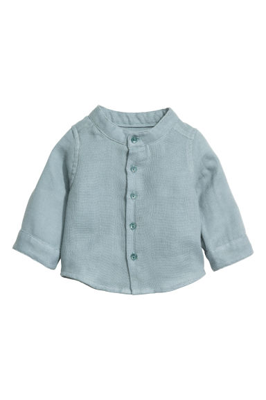 Double-weave cotton shirt - Light petrol -  | H&M CN 1
