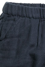 Double-weave cotton trousers - Dark blue - Kids | H&M CN 2