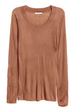 Ribbed jumper - Brown -  | H&M CA 2