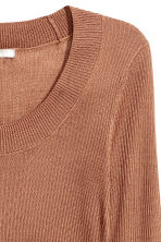 Ribbed jumper - Brown -  | H&M CA 3