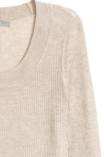 Ribbed jumper - Light beige marl -  | H&M CN 2