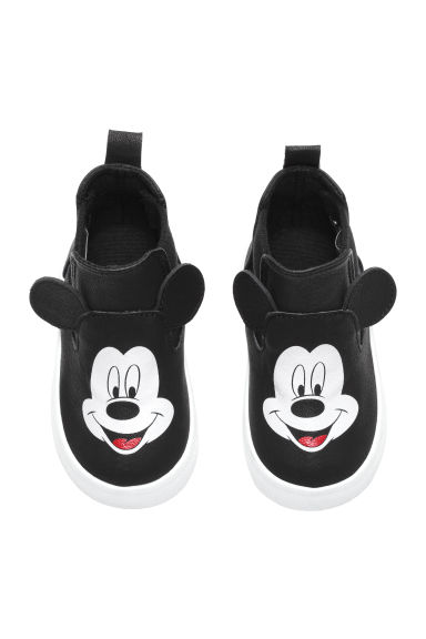 Printed trainers - Black/Mickey Mouse - Kids | H&M CN 1