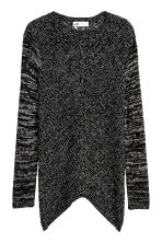 Chunky-knit jumper - Black/White marl - Kids | H&M CN 2