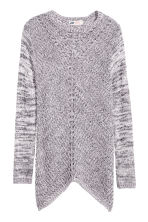 Chunky-knit jumper - Light grey marl -  | H&M CN 2