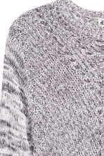 Chunky-knit jumper - Light grey marl -  | H&M CN 3
