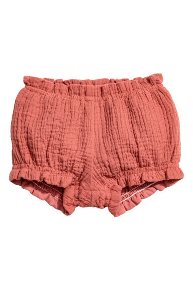 Double-weave puff pants - Rust red - Kids | H&M CN 1