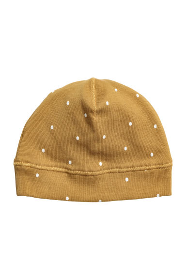 Jersey hat - Mustard yellow/Spotted -  | H&M CN 1