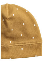 Jersey hat - Mustard yellow/Spotted -  | H&M CN 2