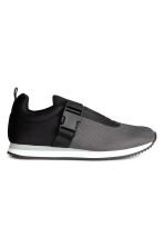 Trainers with elastic - Black marl -  | H&M CN 2