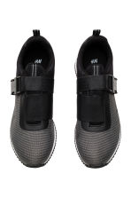 Trainers with elastic - Black marl -  | H&M CN 3