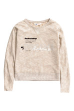 Knitted jumper - Light beige -  | H&M CN 2