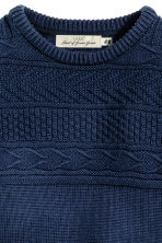 Knitted jumper in pima cotton - Dark blue - Kids | H&M CN 3