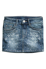Denim skirt - Denim blue - Kids | H&M CN 2