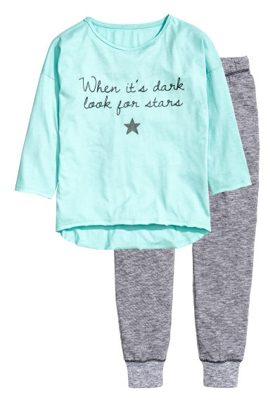 Pyjamas - Light turquoise - Kids | H&M CN 1