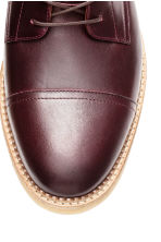 Leather boots - Burgundy -  | H&M CN 3