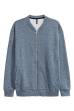 Sweatshirt jacket - Dark blue - Men | H&M CN 2