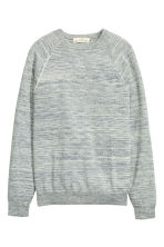 Fine-knit jumper - Grey marl - Men | H&M CN 2
