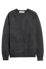 Fine-knit jumper - Black marl - Men | H&M CN 2