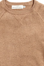 Fine-knit jumper - Dark beige marl - Men | H&M CN 3
