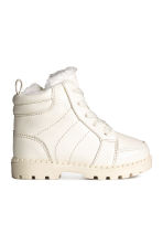 Pile-lined boots - Natural white - Kids | H&M CN 1