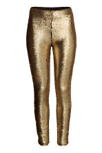 Sequined leggings - Gold -  | H&M GB 2