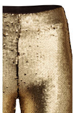 Sequined leggings - Gold -  | H&M GB 3