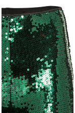 Sequined leggings - Dark green -  | H&M CN 3