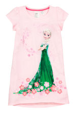 Printed nightdress - Light pink/Frozen - Kids | H&M CN 1