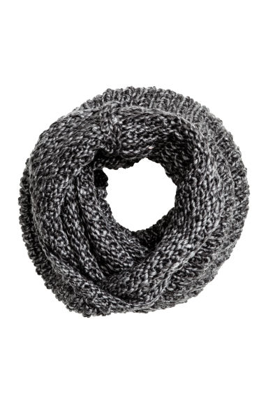 Wool-blend tube scarf - Dark grey marl - Men | H&M CN