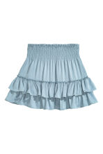 Tiered skirt - Light denim blue - Ladies | H&M CN 2